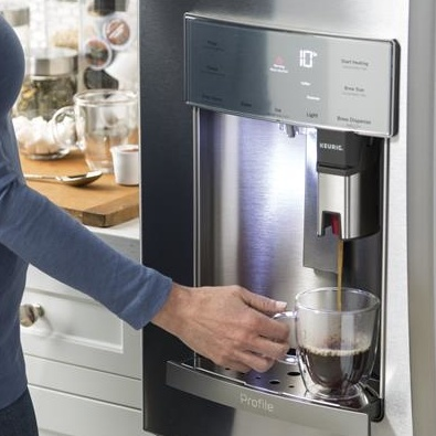 Ge Profile Series Refrigerator With Coffee